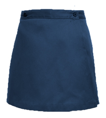 SCS Girls Half Sizes Single Flap Skort 3rd-8th