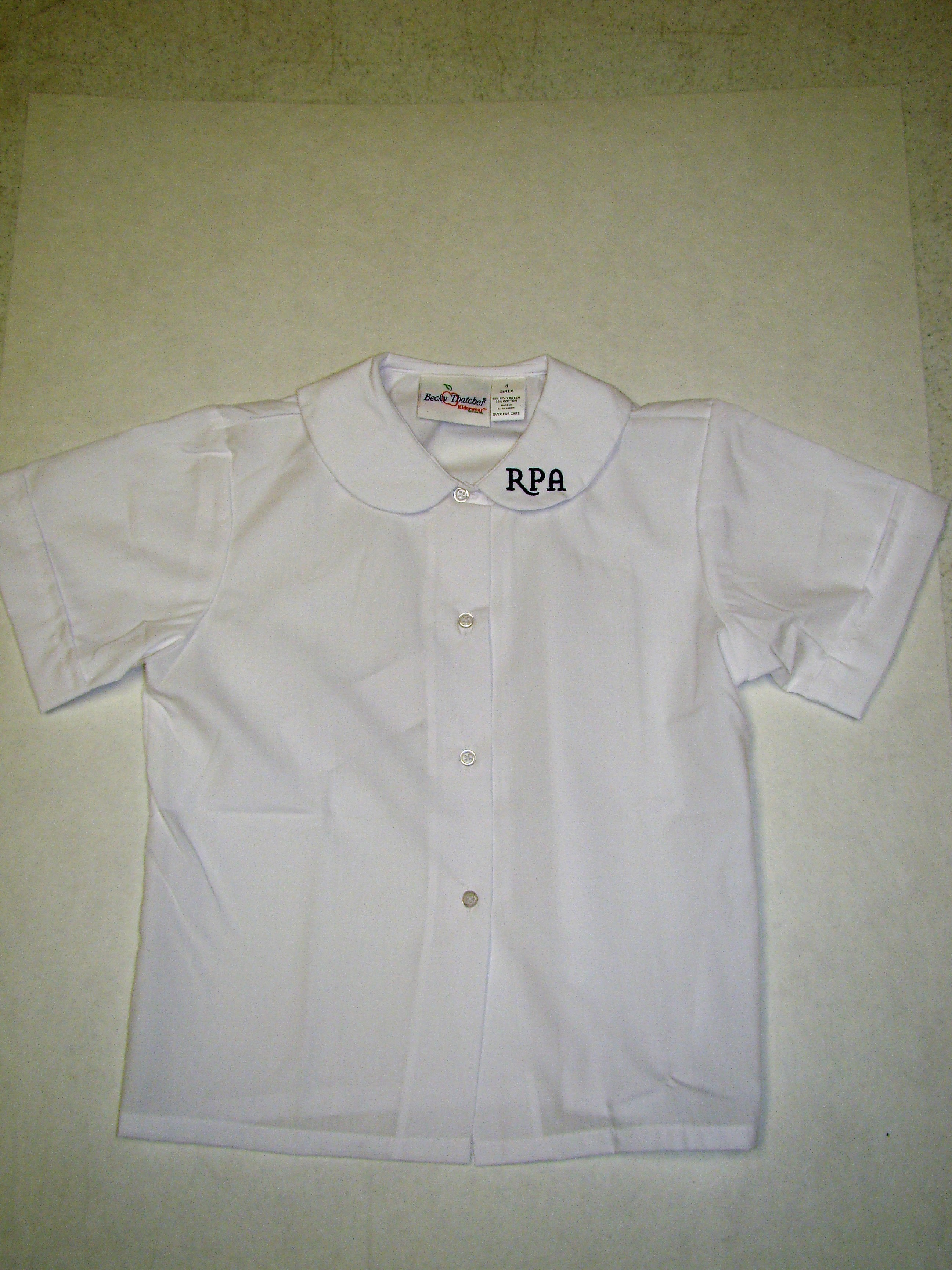 RPA Girls Peter Pan Blouse with RPA Prek3-3rd