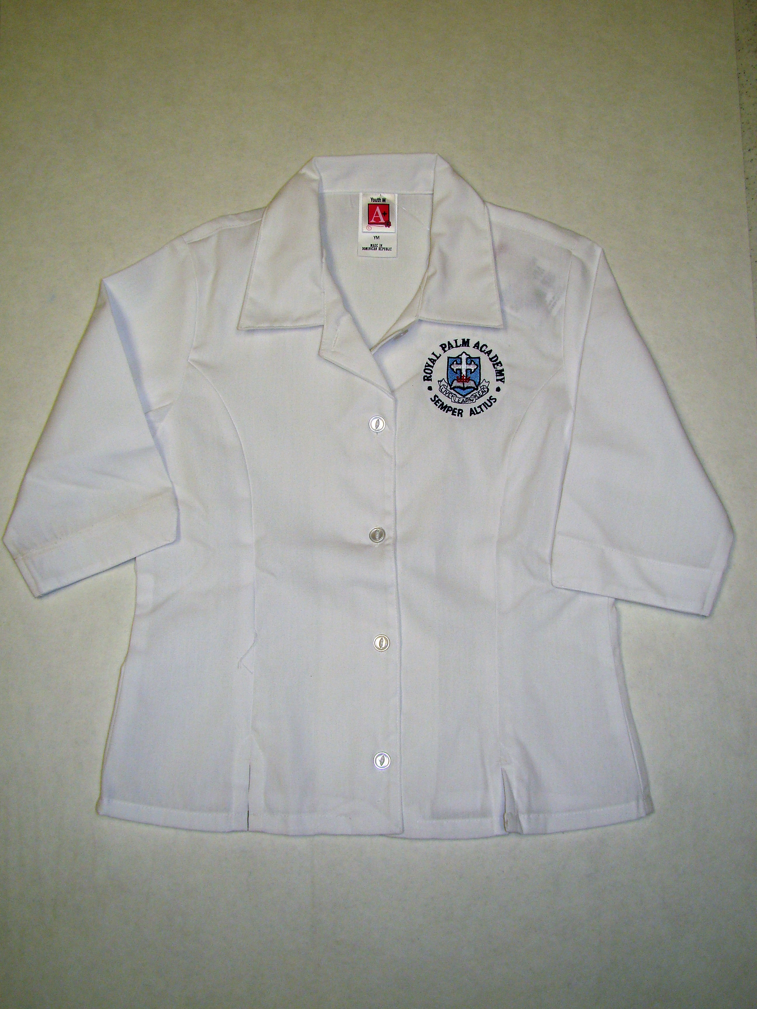 RPA Girls Blouse 3/4 Sleeves with Logo 4th-8th