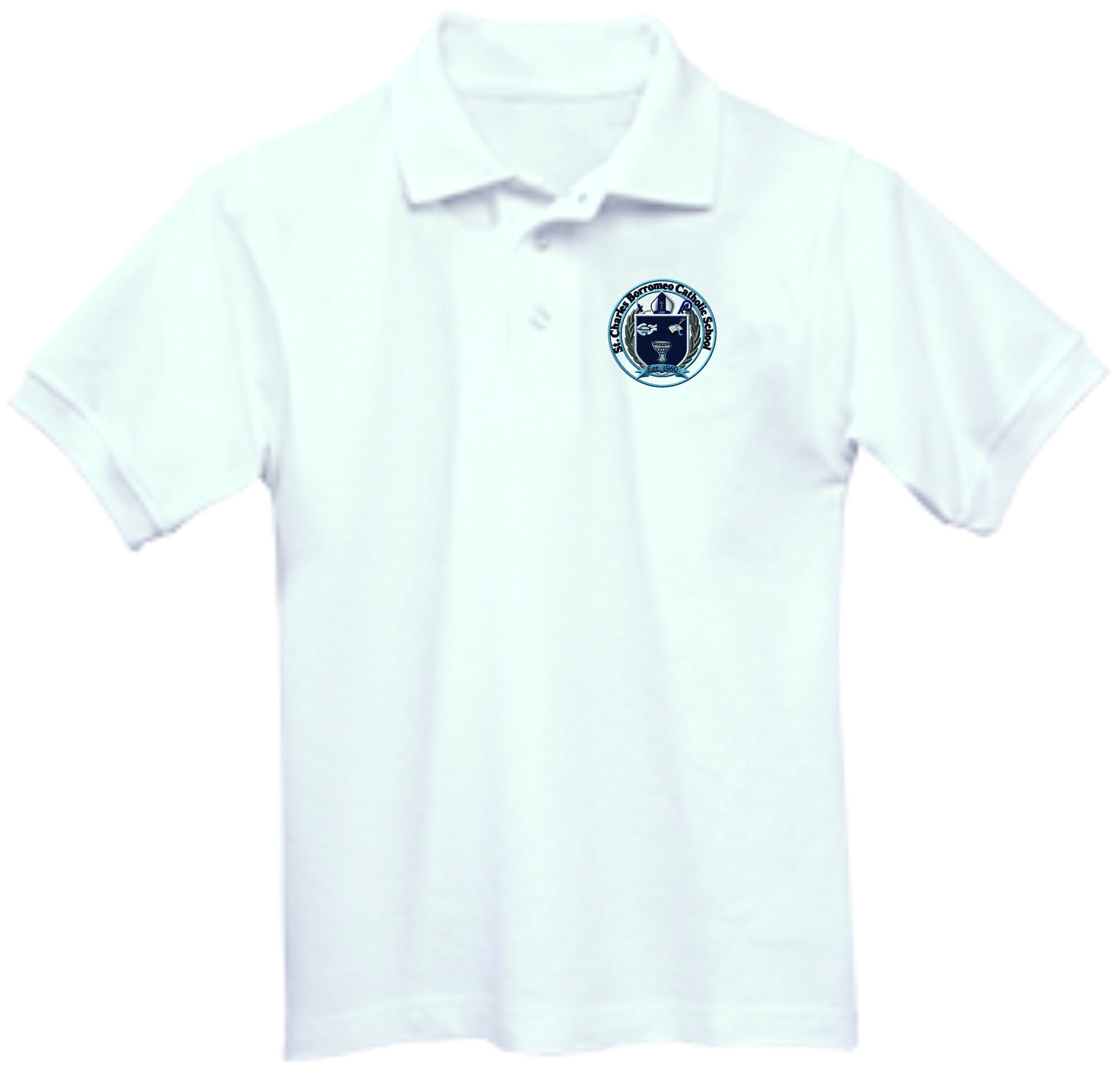 St Charles White Polo(Boys Only)