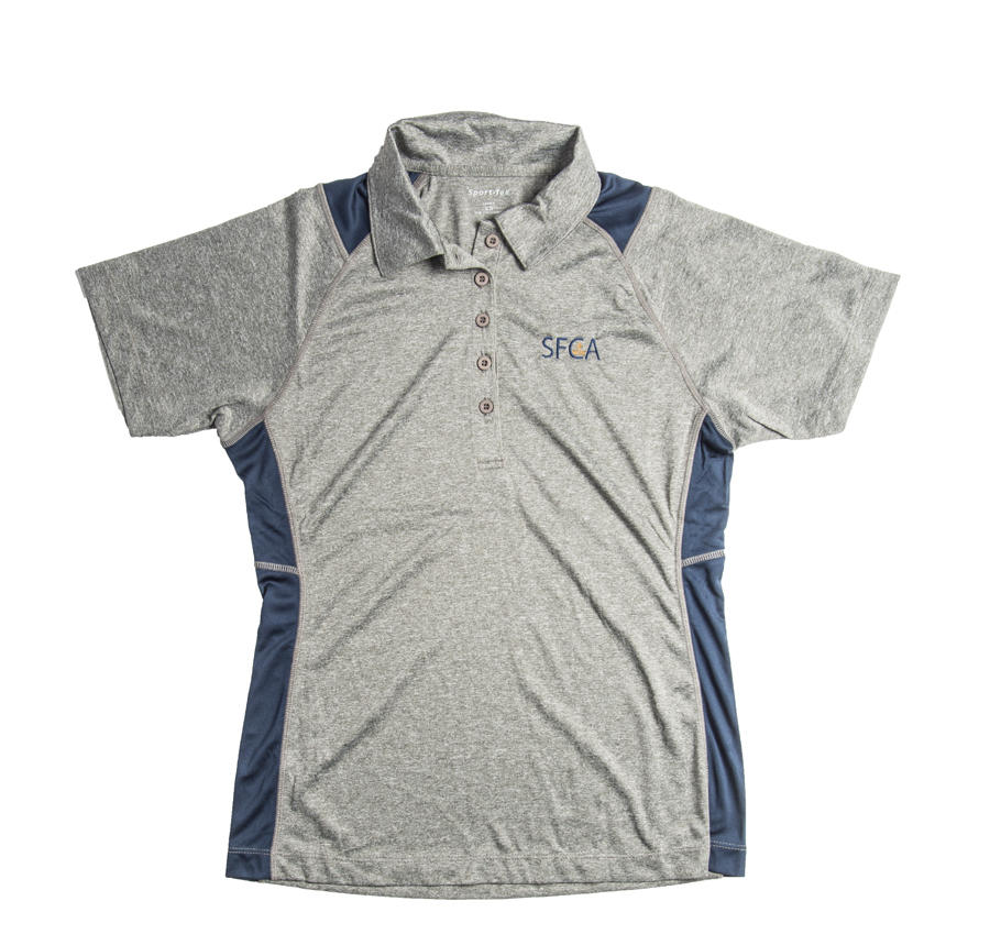 SFCA Ladies Dri Fit Heather/Navy Polo 6th-12th