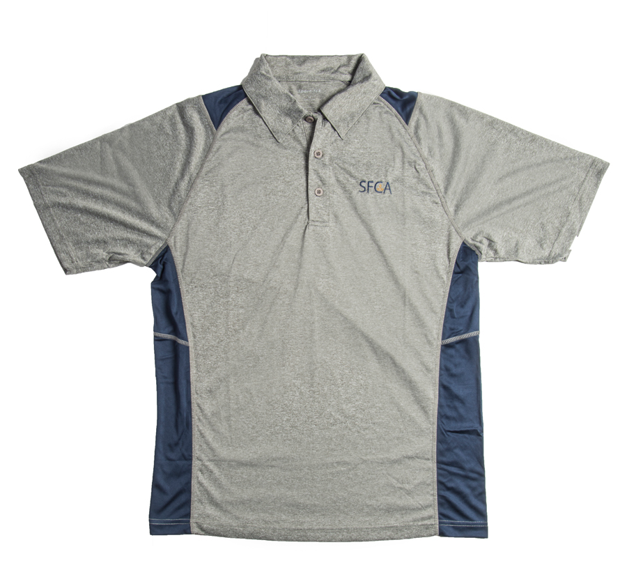 SFCA Dri Fit Heather/Navy Men's Polo 6-12